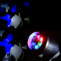 Wholesale Projecting Christmas Lights - Wholesale-HORIZONLINE White Blue Butterfly Projecting Lamp Waterproof Landscape Projector LED Light Christmas Decoration