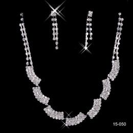 Günstige Brautschmuck Charming Alloy Plated Strass Perlen Kristall Schmuck-Set für Hochzeit Braut Brautjungfer Freies Verschiffen 15050 von Fabrikanten