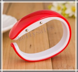 Wholesale Oval Watches For Women - LED plastic candy bracelet watches easy to wear bangle wristwatches bracelet watch with digital disply touch screen for man women