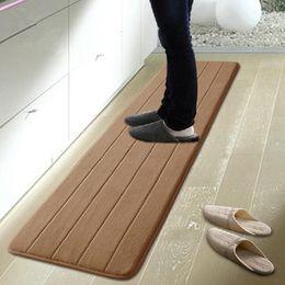 Wholesale Waterproof Kitchen Mat - free shipping 50*120cm memory foam washable kitchen rugs waterproof floor rugs sale bath mat for living room