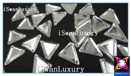 Wholesale Diy Sew Stones - Wholesale-Mirrored Silver 18x20mm Crystals Loose Beads Strass Stones Sew-on For Sewing Rhinestones Beads Stones Loose Crystals Charms Diy