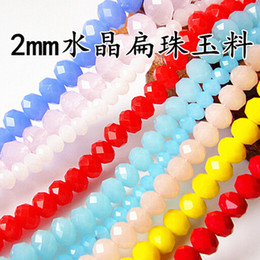 Wholesale 2mm Spacer Beads - New Arrival 350PCS 2MM Crystal Rondelle Jade Porcelain Glass beads,Faceted Roundelle Loose Beads,DIY Jewelry Spacer Beads