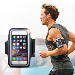 Wholesale Band Iphone Covers - Mobile Phone Armbands Gym Running Sport Arm Band Cover For iPhone 6plus 7plus 8plus X Adjustable Armband protect Case