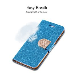 Wholesale Diamond Buckle Leather Wallet Case - Bling Diamond Rhinestones Leather Case For samsung Galaxy S6 edge S5 S4 iPhone 6 plus 5 5s 4 4s Full Wallet Shiny Buckle stand cover