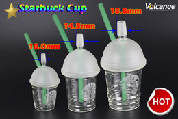 Wholesale glass cupping - 10mm 14.5mm 18.8mm Water Pipes Starbucks Cup Glass Bongs Dab Rigs and Oil Rigs Glass Bongs Hookah Shisha