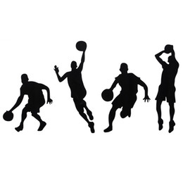 Wholesale Best Art Brand - Brand New Basketball Player Removable Wall Art Stickers Wall Decor Vinyl Decal Wall Stickers Removable Best Promotion!