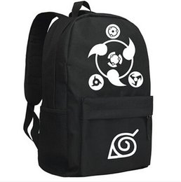 Wholesale Cosplay Anime School Bag - Wholesale-NARUTO Sharingan Printing Black Men's Sport Travel Oxford Computer School Bags Backpacks Hot Anime Cosplay
