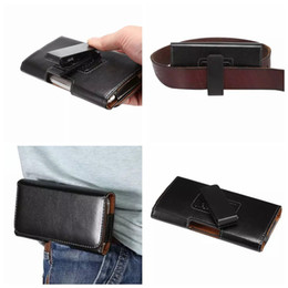 Wholesale Leather Belts Buckles Wholesale - Hip Horizontal Sheep Leather Clip Holster Case For Iphone 7 6 6S Plus 5 5S 5SE Galaxy S8 S7 Edge S6 Note 5 4 Buckle 360 Degree Belt Pouch