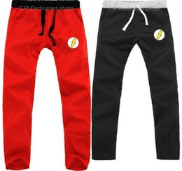 Wholesale flash pants - Wholesale-Jay Garrick Barry Allen Wally West Bart Allen casual pants The flash superhero costume sweat pants Justice League sport trousers