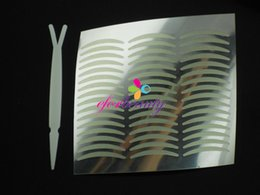 Wholesale Sell Eyelid Tape - 240pairs Slim Adhesive Double Eyelid Tape With Makeup Fork Nice Beauty Hot Selling High Quality 5sets