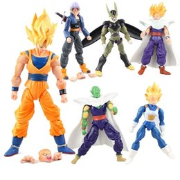 Wholesale Dragonball Z Goku Vegeta - dragon ball 6pcs set Dragonball Z Dragon Ball DBZ Anime 15cm Goku Vegeta Piccolo Gohan super saiyan Joint Movable Action Figure Toy in stock