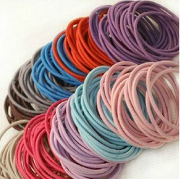 Wholesale Wholesale Fabric Hair Ties - Sale 6394 Korean style jewelry Whole hair ties accessories ultra high elastic small rubber bands tail seams Tousheng ring 1g