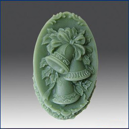 Wholesale Silicone Silicon Soap Molds - Free shipping bells Handmade soap silicone mold ,Christmas candle ,candle molds,silica gel mould,silicon tools decoration