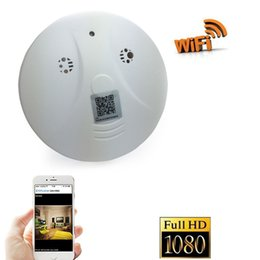 Wholesale Smoke Detector Wifi - 1080P Wireless Spy Camera WiFi Hidden Cam Smoke Detector HD Mini Cameras Video Spy Recorder Mini DV DVR Camcorder Home Security Monitor