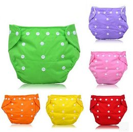 Wholesale Sale Washable Diaper - Hot Sales Baby Waterproof Cloth Diapers Adjustable Reusable Nappies Diaper Pants Washable Diapers For Children 7Colors Choose