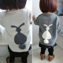 Wholesale child sweaters - 2016 Spring Baby Bunny Sweater Children Clothing Spring Fall Cartoon Pullower Kids Sewaters KB150