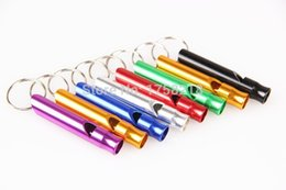 Wholesale Dog Pcs - Pet Products Dog supplies Training Dedicated Whistle Interactive Aluminum Alloy Toy 1 pcs lot Stainless Steel multicolor