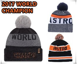Wholesale Champions Football - NEW Houston WORLD CHAMPS Champion Sport Baseball BEANIES Caps Popular Cheap Jose Altuve Correa Springer ALEX Verlander HOE NEW COME