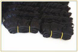 Wholesale Malaysian Virgin Hair Mixed 5pcs - Beautiful star ali queen Malaysian hair remy human hair weave unprocessed natural color deep wave MIX 5pcs 100g pc hair extension