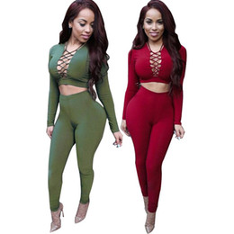Wholesale Spandex Full Bodysuit For Women - Sexy Rompers Womens Jumpsuit 2016 Long Sleeve Criss Cross Overalls For Women Bodysuit Cotton Bodycon Playsuits And Jumpsuits club dresses