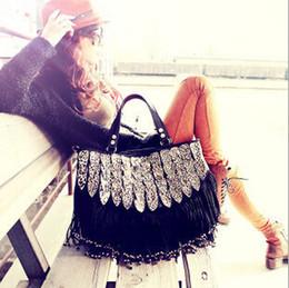 Wholesale Free Fringe - 2015 New Fashion Fringe Tassel Women's Handbags Lady Leopard Leather Shoulder bag Big Women Messenger Bag Free Shipping