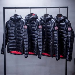 Wholesale Canada Long Down Coat - High Quality CANADA New Winter Men's Down puffer jacket Casual Brand Hoodies Down Parkas Warm Ski Mens Coats