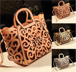 Wholesale Noble Style - Fashon New Brand Design Retro carved hollow noble PU Leather Women lady Handbag Messenger Bag Shoulder Bag Tote Bag top sale free shipping