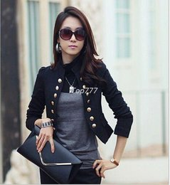 Wholesale Female Business Blazer - New Fashion High Quality Blazer Feminino Casual Solid Business Jackets Double Breasted Slim Fit Female Suit