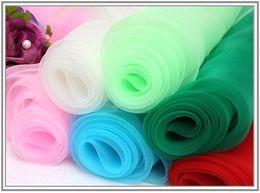Wholesale Multi Colored Organza Fabric - European root yarn fabric clothing black white gauze transparent organza gauze lace fabric
