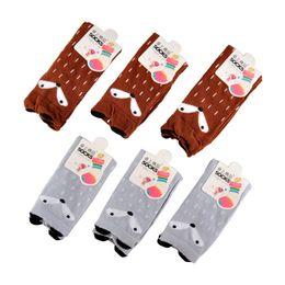 Wholesale Totoro High Socks - Cartoon Cute Children Print Animal Cotton Baby Kids Socks Knee High Long Fox Socks For Toddler Girl Totoro Socks Winter leg warmers