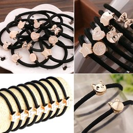 Wholesale Cheapest Wholesale Jewelry - 120pcs lot Fashion Cheapest Elastic Hair rope Star Heart Butterfly Crown shapes hair band wholesale Women Girls Hair Jewelry JH01067