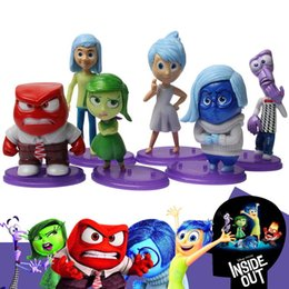 Wholesale Figuring Out - 6 Pcs Set Inside Out PVC Action Figures 6-10 cm Kids Cartoon Movie Dolls Collection Toys For Boys Girls #6296