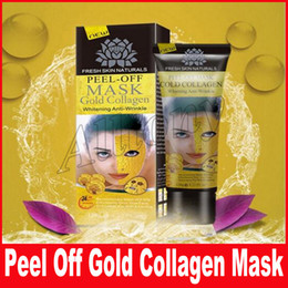 Wholesale Gold Crystal Face Mask - Golden Peel Off Facial Mask Black Crystal Gold Collagen Milk Blackhead Remover Face Mask Skin Care