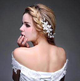 Wholesale Tiaras Hair Jewelery - Vintage Bridal Crown Tiara Wedding Jewelery Bohemia Hair Accessories Elegant Headpieces Frontlet Hair Band headbands for Bride CPA476