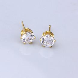 Wholesale Earrings Brands - 14K Gold Plated Jewelry Earrings Studs For Women Cublic Zirconia Ear Studs Mix Order Xuping Brand Environmental Copper Earrings
