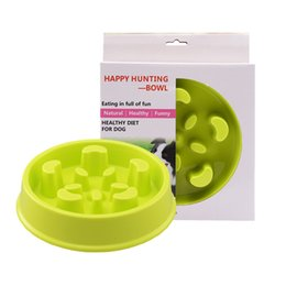 slow feeder bowl Promo Codes - Pet Dry Food Cat Bowls for Dogs Slow Feed Dog Bowl Plastic Drinking Water Fountain Pets Puppy Dish Feeder