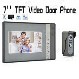 Wholesale Wireless Home Video Door Security - Home Security System 7 inch TFT Color Touch Key Video Intercom Doorbell Door Phone