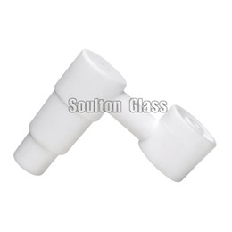 nails side Promo Codes - Soulton Glass Wholesale Side Arm Domeless Ceramic Nail With Universal 14.4mm 18.8mm Male Joint Ceramic Nails Glss Bong CN-007