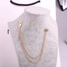 Wholesale Mask Brooches - New Fashion Face Mask Brooch Rose Gold Plated Brooch Pins For Dress Decorations Jewelry 12pcs lot