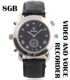 Wholesale Video Cam Watch - Spy watch camera built in 8GB memory mini hidden watch cam Camcorder Watch Video Recorder Hidden Watch Camera DVR