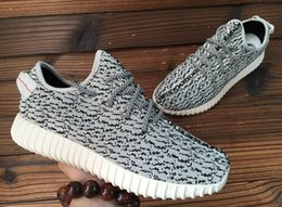 Wholesale Soccer Football Boots Brand - 2016Adidas Brand New Mens Shoes boost IN Black Athletic Boots Kanye West 350 Dropshipping Accepted