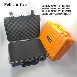 Wholesale Tools Box Equipment - Wonderful ABS Case VS Pelican Waterproof Safe Equipment Instrument Box Moistureproof Locking For Gun Tools Camera Laptop VS Ammo Aluminium