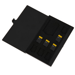 Wholesale Sim Card Memory Sd Holder - Aluminum 1SD+ 8TF Micro SIM Card and SD Cards Pin Storage Box Case Holder Memory Card Storage Cases