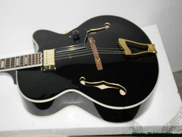 Wholesale gold guitar jazz - Custom Shop Black Hollow Jazz Guitar Gold Hardware New Arrival OEM From China