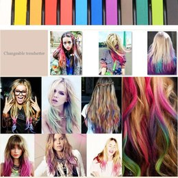 Wholesale Soft Pastels For Hair Chalking - 36 Color Easy Temporary Colors Non-toxic Hair Chalk Dye Soft Hair Pastels Kit Crayons for Hair Melky Dlya Volos M01050d