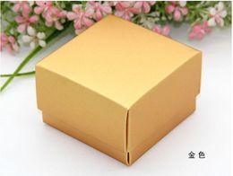 Wholesale Flat Carton - 100Pcs Lot wholesale Import pearl paper and Candy Boxes naked box DIY flat carton boxes Hot Sale
