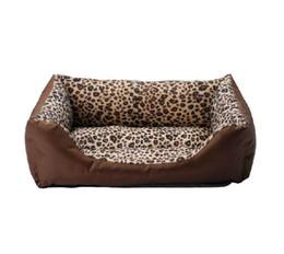 Wholesale Pet Nest Dog House Kennel8 - Wholesale-Dog Bed Square leopard print kennel8 pet nest cat litter kennel dog soft winter pet nest