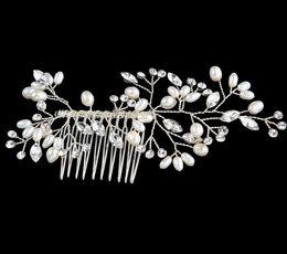 Wholesale Silk Hair Rose Clip - Bridal Hair Accessories Tiaras Hair Pins Lady's Natural Pearls Fascinators Bridal Wedding Flower 2017 Crystal Headband Hair Clip Pins