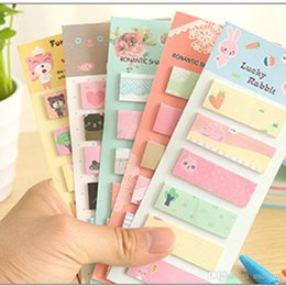 Wholesale Cheap Sticky Notes - Cartoon sticky N times paste Paper notes Notepads Scratchpad Sticker cute Stationery scrip notebook Office School Supplies cheap 240099