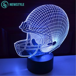 Wholesale Falcon Light - Wholesale- Amazing 3D Illusion led Table Lamp Night Light Millennium Falcon Lighting Colorful Gradient Atmosphere Night light Gifts